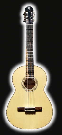 Classical Guitar Flame Maple